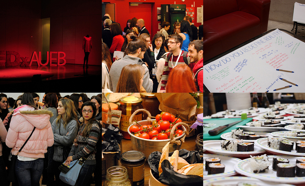 TEDxAUEB images collage